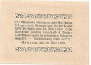 50 Heller (Gampern) -  reverse