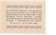 20 Heller (Gampern) -  reverse