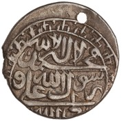 1 Abbasi (Type B; in the name of Karim Khan Zand, 1751-1779; Ganja) – obverse