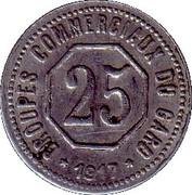 25 Centimes (Gard) – reverse