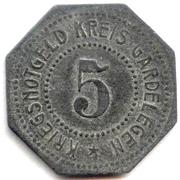 5 Pfennig - Gardelegen – reverse