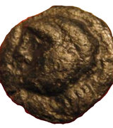 Potin (boar and severed head) – obverse