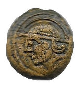 Bronze CRICIRV with helmeted head (Suessiones, region of Soissons) – obverse