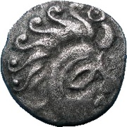 ¼ Silver Stater (Abrincatui) – obverse
