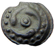 Potin - Lingones (3 fishes and 3 seahorses) – obverse