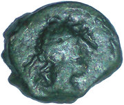 Hemiobolion with a bull (Massalia, head right, ΜΑΣΣΑ ΛΙΗΤΩΝ with a bull butting right) – obverse