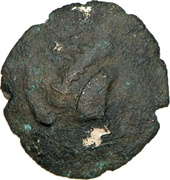 Stuffed quarter gold stater (Armorica, unknown tribe) – obverse
