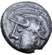 Denarius with helmeted head (Aedui) – obverse