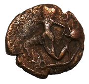 Bronze personnage courant aux astres – obverse