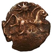 Bronze personnage courant aux astres – reverse