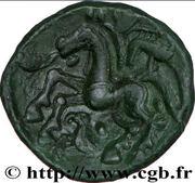 AMBIENS (Région d'Amiens) Bronze aux loups affrontés et au cheval – reverse