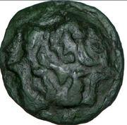 AMBIENS (Région d'Amiens) Bronze aux loups affrontés et au cheval – obverse
