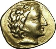 Statère d'or à la tête de face – obverse