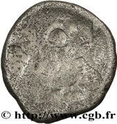 Denarius with helmeted head (Aedui) – reverse
