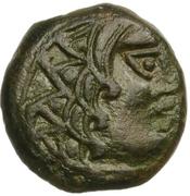 Bronze à l'aigle et à la croisette (Carnutes) – obverse