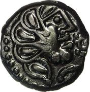 Bronze YLLYCCI à l'oiseau de la tribu des Senons (Senones - Région de Sens) [ 52 Av-JC ] – obverse