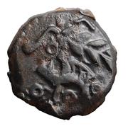 Bronze au sanglier au rameau et au cheval – obverse