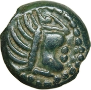 Bronze à l'aigle et à la rouelle (Carnutes) – obverse
