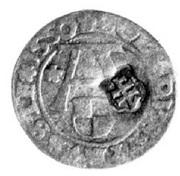 Szeląg oblężniczy - Gdańsk under siege (countermarked) – obverse