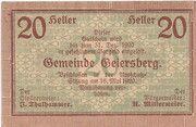 20 Heller (Geiersberg) -  obverse