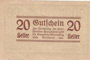 20 Heller (Geiersberg) -  reverse