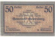 50 Heller (Geiersberg) -  obverse
