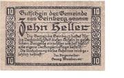 10 Heller (Geinberg) -  obverse
