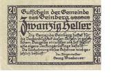 20 Heller (Geinberg) -  obverse