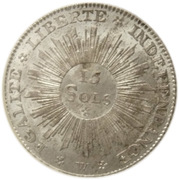 15 Sols (Revolutionary Coinage) – reverse