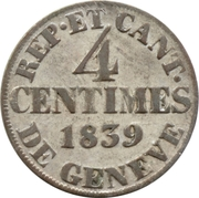4 Centimes – reverse