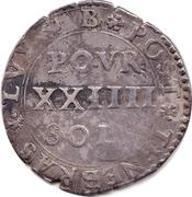 24 Sols / 2 Guldens – reverse