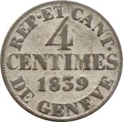 4 Centimes – reverse