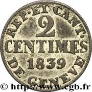 2 Centimes – reverse