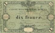 10 Francs - Caisse d'Escompte de Genève – obverse