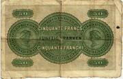 50 Francs - Banque du commerce – reverse