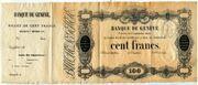 100 Francs (Banque de Genève) – obverse