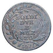 2-1/2 Soldi – reverse