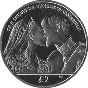 2 Pounds (1st Wedding Anniversary William & Kate) – reverse