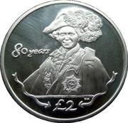 2 Pounds - Elizabeth II (Order of the Garter) – reverse