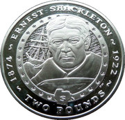 2 Pounds - Elizabeth II (Ernest Shackleton) – reverse