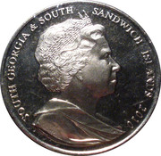 2 Pounds - Elizabeth II (Race to the South Pole) – obverse