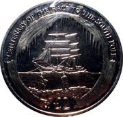 2 Pounds - Elizabeth II (Race to the South Pole) – reverse