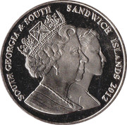 2 Pounds (Diamond Jubilee - Queen Mother with infant Elizabeth II) – obverse