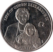 2 Pounds (Diamond Jubilee - Queen Mother with infant Elizabeth II) – reverse