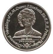 2 Pounds - Elizabeth II (Diamond Wedding) – reverse