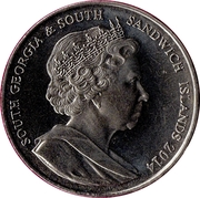 2 Pounds - Elizabeth II (Centenary of the Imperial Trans-Atlantic Expedtion) -  obverse