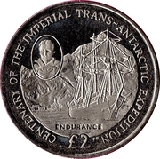 2 Pounds - Elizabeth II (Centenary of the Imperial Trans-Atlantic Expedtion) -  reverse