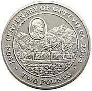 2 Pounds - Elizabeth II (Grytviken) – reverse