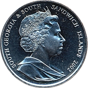2 Pounds - Elizabeth II (Golden Jubilee) – obverse