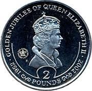 2 Pounds - Elizabeth II (Golden Jubilee) – reverse